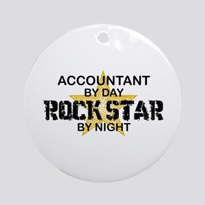 Accountant RockStar Ornament (Round)