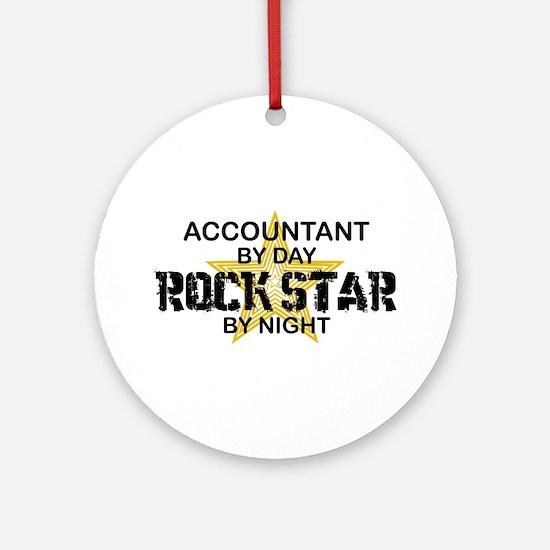 Accountant RockStar Ornament (Round)
