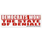 Democrats State of Denial Bumper Sticker