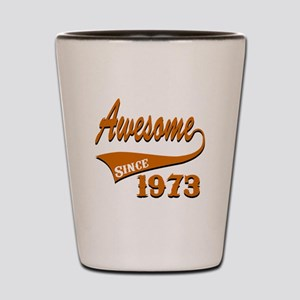 Awesome Since 1973 Birthday Designs Shot Glass