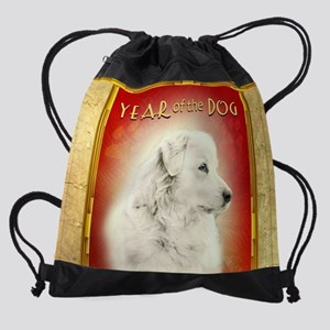 2018 Chinese New Year of the Dog Wh Drawstring Bag