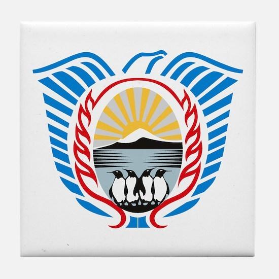 Tierra Del Fuego Coat of Arms Tile Coaster