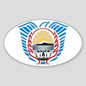 Tierra Del Fuego Coat of Arms Oval Sticker