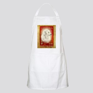 2018 Chinese New Year of the Dog White Light Apron