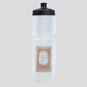 2018 Chinese New Year of the Dog Whi Sports Bottle