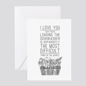 The Dishwasher Is Hard Greeting Cards