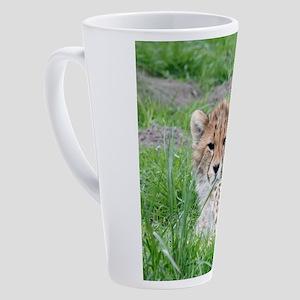 Cheetah_20180101_by_JAMFoto 17 oz Latte Mug