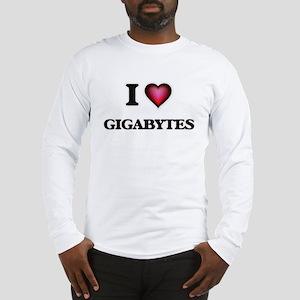 I love Gigabytes Long Sleeve T-Shirt