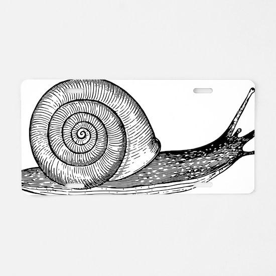 Unique Snail Aluminum License Plate