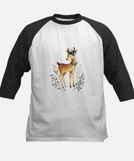 Small Deer with Flowers in her Ant Baseball Jersey
