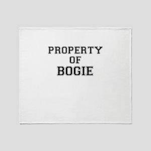 Property of BOGIE Throw Blanket
