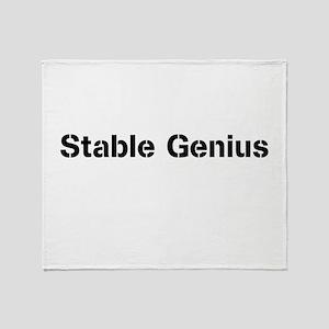 Stable Genius Throw Blanket