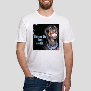 Doberman Pinscher Smiles Fitted T-Shirt