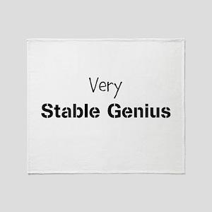 Very Stable Genius Throw Blanket