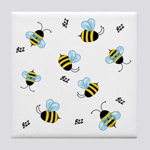 Swarming Honeybees Tile Coaster