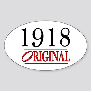 1918 Oval Sticker