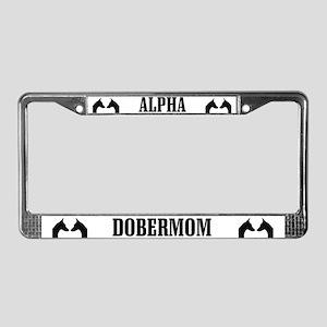 Alpha Dobermom License Plate Frame