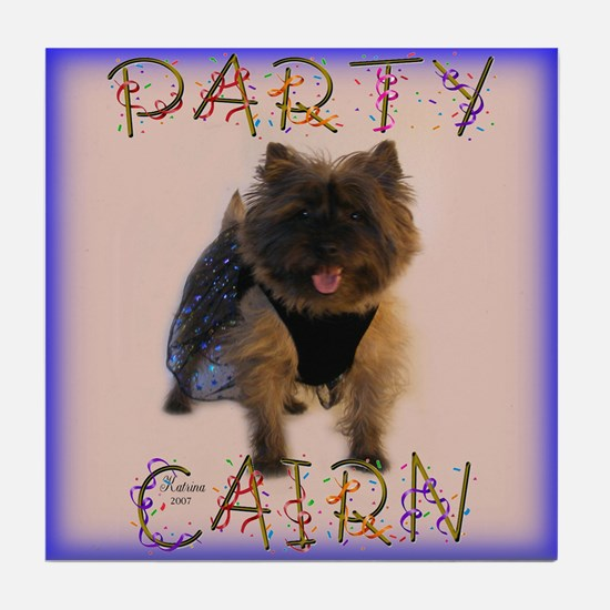 Party Cairn Terrier Tile Coaster