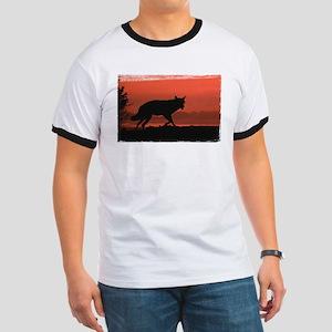 Sunset Wolf Ringer T