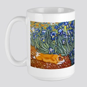 Corgi in iris Large Mug