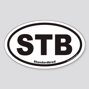 Standardbred STB Euro Oval Sticker