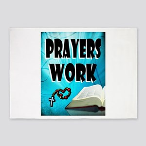 PRAYERS WORK 5'x7'Area Rug