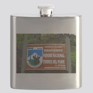 Torres del Paine Sign, Chile Flask
