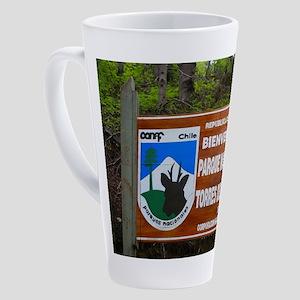 Torres del Paine Sign, Chile 17 oz Latte Mug