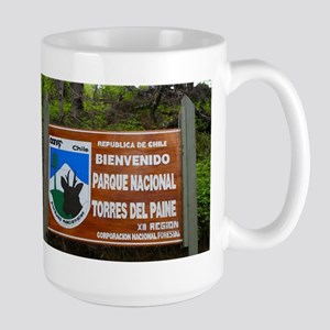 Torres del Paine Sign, Chile Mugs