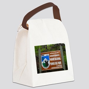 Torres del Paine Sign, Chile Canvas Lunch Bag