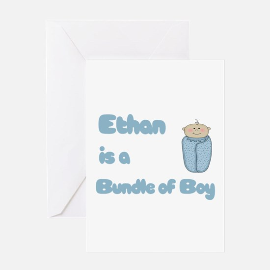 Ethan is a Bundle of Boy Greeting Card
