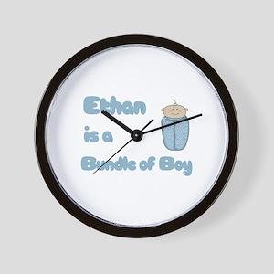 Ethan is a Bundle of Boy  Wall Clock