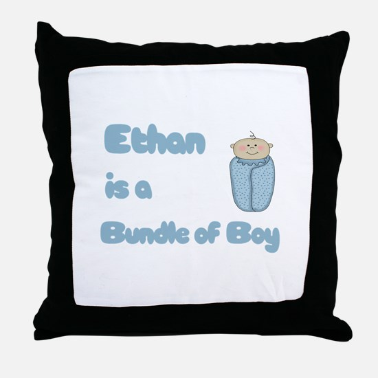 Ethan is a Bundle of Boy  Throw Pillow