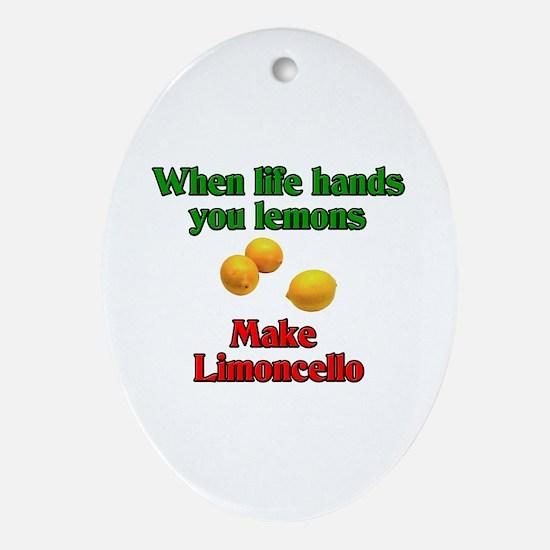 When Live Hands You Lemons Oval Ornament