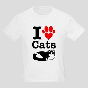 I Heart Cats Kids Light T-Shirt