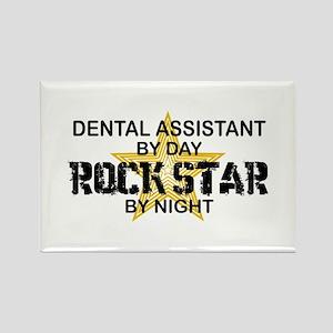 Dental Asst RockStar by Night Rectangle Magnet