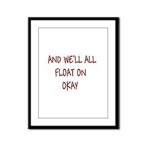 all float on Framed Panel Print