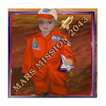 Baby Aviator Mars Mission Tile Coaster