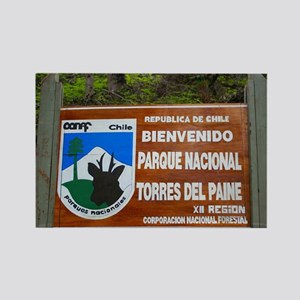Torres del Paine Sign, Chile Magnets