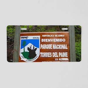 Torres del Paine Sign, Chil Aluminum License Plate