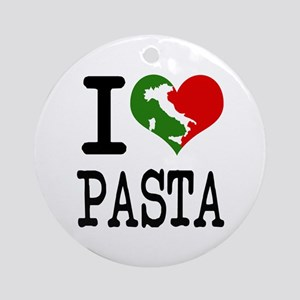 I Love Pasta Italian Ornament (Round)