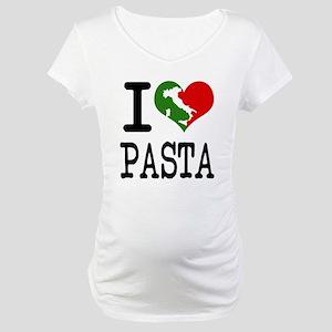 I Love Pasta Italian Maternity T-Shirt