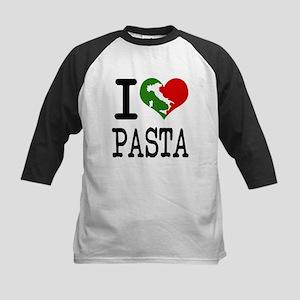 I Love Pasta Italian Kids Baseball Jersey