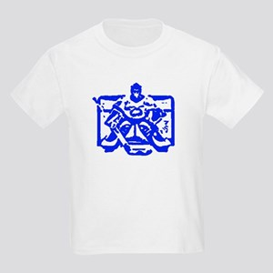 Hockey goalie blue Kids Light T-Shirt