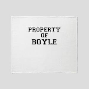 Property of BOYLE Throw Blanket