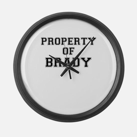Property of BRADY Large Wall Clock