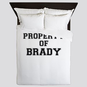 Property of BRADY Queen Duvet