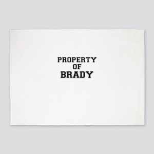 Property of BRADY 5'x7'Area Rug