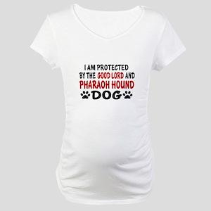 Protected By Pharaoh Hound Maternity T-Shirt