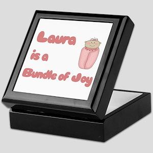 Laura is a Bundle of Joy Keepsake Box